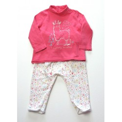 Ensemble T Shirt et Pantalon In Extenso fille 12 / 18 mois